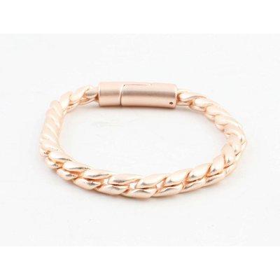 """Bracelet """"Noor"""" mat rosé"""