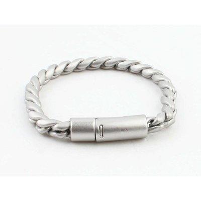 """Armband """"Noor"""" mat zilver"""
