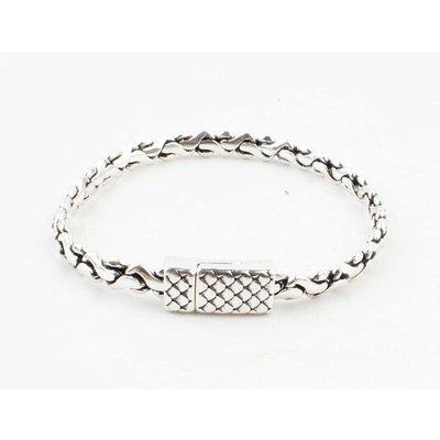 """Armband """"Alma"""" shiny zilver"""