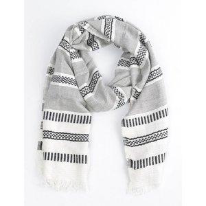 """Schal """"Aztec"""" schwarz/weiß"""