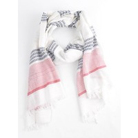 """Scarf """"Weekend"""" white"""