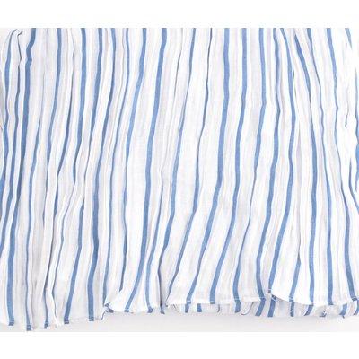 "Scarf ""Classic stripes"" denim"