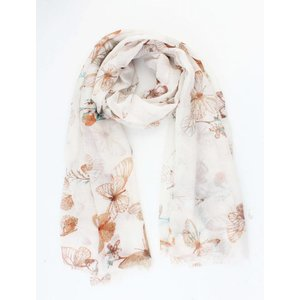 """Scarf """"Romantic butterfly"""" taupe"""