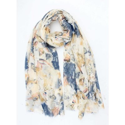 """Scarf """"Cloudy flower"""" yellow"""