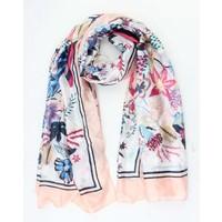 "Scarf silk look ""Porto"" pink"