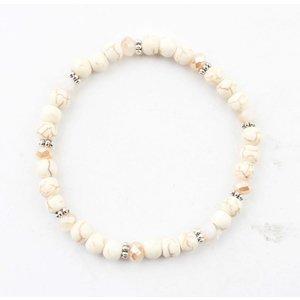 "Bracelet ""natural stone balls"" white"