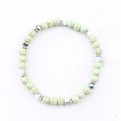 "Bracelet ""Natural stone balls"" green"