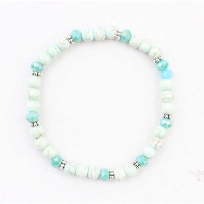 """Bracelet """"natural stone balls"""" aqua"""