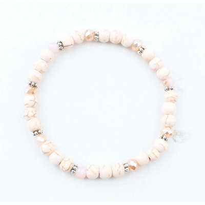 "Bracelet ""natural stone balls"" blush"