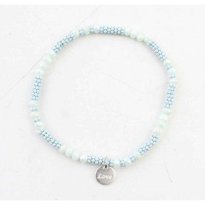 """Armband """"Kyla"""" lichtblauw"""
