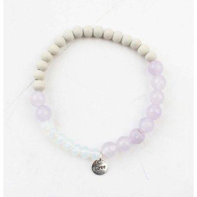 "Armband ""Francesca"" paars"
