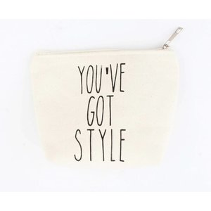 "Kosmetik Tasche ""You've got style"" weiß"