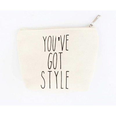 "Kosmetik Tasche ""You've got style"" weiß"