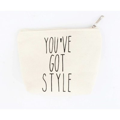 "Make up bag ""you've got style"" off white"