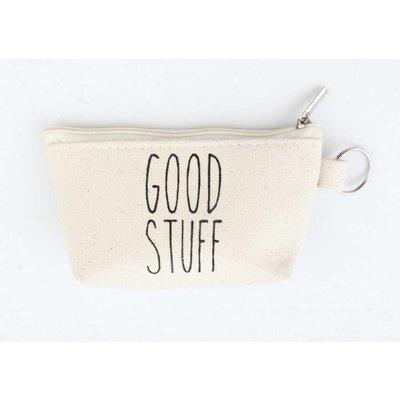 """Schlüsselanhänger Tasche """"Good Stuff"""" weiß"""