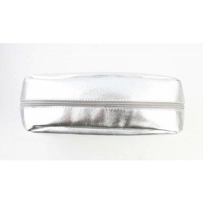 "Toilet bag ""glasses"" silver"