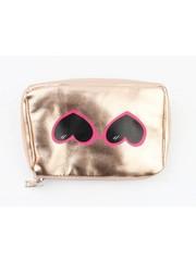 """Make up bag """"glasses"""" rosé"""