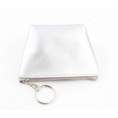 "Purse key ring ""Shiny"" silver"