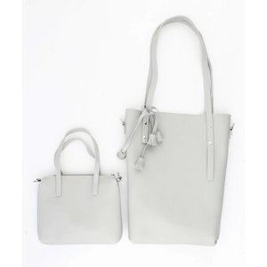 "Shopper ""Tassel"" grey"