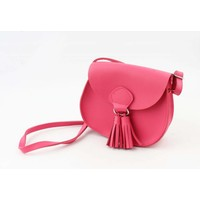 "Cross body ""Tassel"" fuchsia"