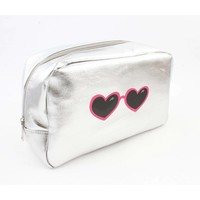"Toilet bag ""glasses"" silver"