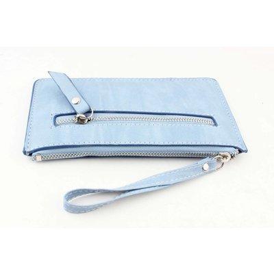 """Portemonnee klein """"Zipper"""" blauw"""