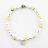 "Bracelet ""Love"" lemon yellow"