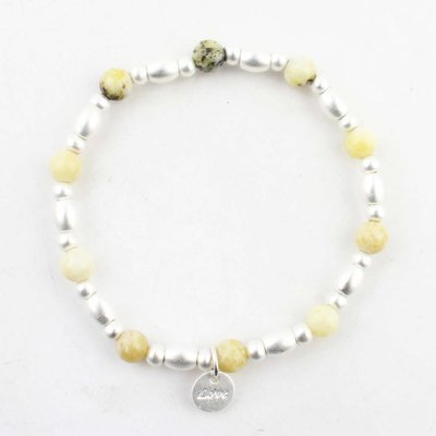 "Bracelet ""Love"" lemon yellow"