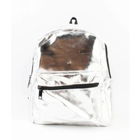 "Backpack ""Shiny"" silver"