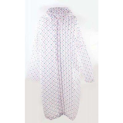 "Rain jacket ""Coloured dots"" white"