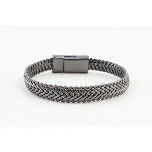"Metalen armband ""Ilana"" antraciet"