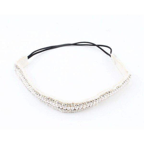 """Haarband """"Pearls"""" zilver"""
