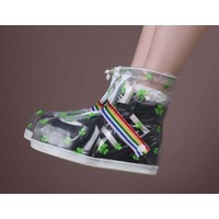 "Festival rain shoe ""Clover"" white/transparent"