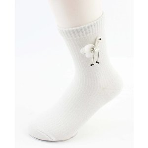 "Socks ""Flamingo"" white"