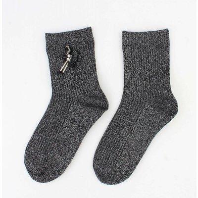 "Socken ""Flamingo"" schwarze"