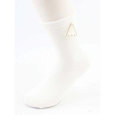 "Sokken ""Triangle parels"" wit"