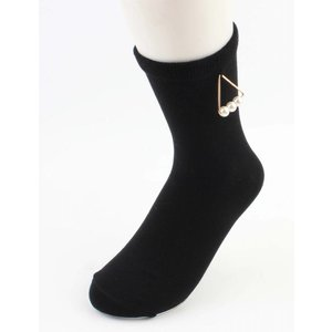 "Sokken ""Triangle parels"" zwart"