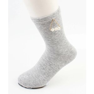 "Socks ""Triangle pearls"" grey"