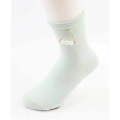 """Socken """"Triangle Perlen"""" mint Green"""