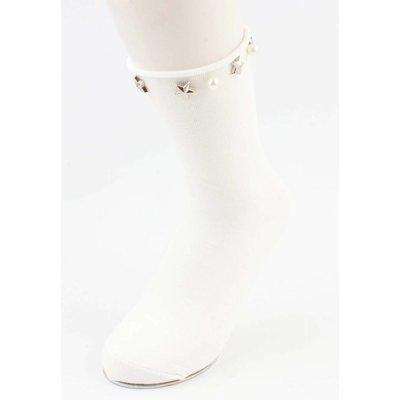 """Socks """"stars & Pearls"""" white, per 2 pairs"""