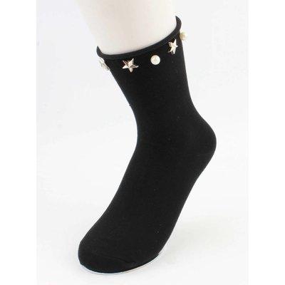 """Socks """"Stars & Pearls"""" black, per 2 pairs"""