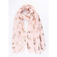 "Scarf ""Shiny Pineapple"" pink"
