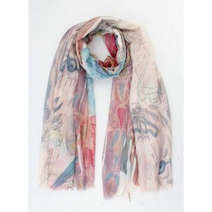 "Scarf ""Lion"" taupe"