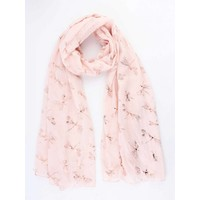 "Scarf ""Dragonfly"" pink"