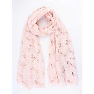 """Sjaal """"Libelle"""" roze"""