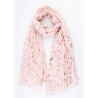 "Scarf ""Foil Leopard"" pink"