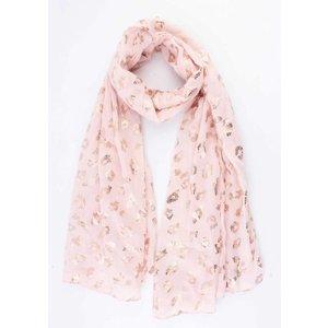 """Sjaal """"Folie luipaard"""" roze"""