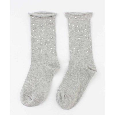 "Sokken ""Multi-strass"" grijs"