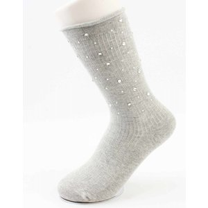 "Socks ""Multi-strass"" grey"