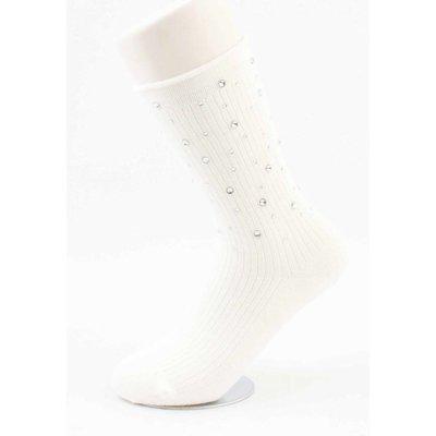 """Socken """"Multi-Strass"""" weiß"""